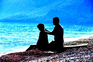 release-body-relax-beach-drum-couple-shoulder